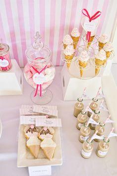 Ice cream dessert table