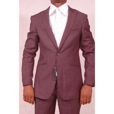 Defined Fitted Suit | Dark Grey