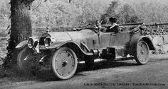 Emily Post in a mystery automobile, 1915