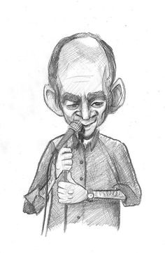 Comedian Todd Barry. Not familiar with his material, but his face looked pretty good.