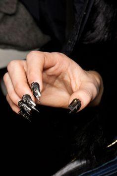 $25 http://seoninjutsu.com/nails2 Goth nails #nails #fashion #nailsart Repin share and like please :)