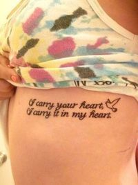 I carry your heart <3