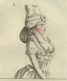 caraco en chemise (chemise jacket) - July 1792 Journal des Luxus und der Moden
