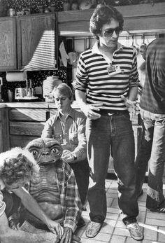 Steven Spielberg on the set of E.T.