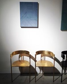 chic brass chairs