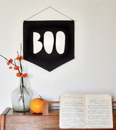 Boo Banner   10 DIY Ways To Upgrade Your Halloween Party