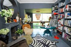 London Victorian ~ Eclectic Style Utilizes a Mix of Furnishings & Accessories from Different Periods