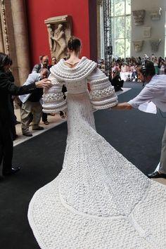 #Knitted wedding dress  Skirt Knit  #2dayslook #SkirtKnit #fashion #new  www.2dayslook.nl