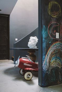 colorful chalk wall