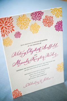 Spring Wedding Invitations #wedding #weddinginvitations