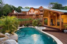 swimming pools, dream cabin, dream homes, log cabins, pool houses