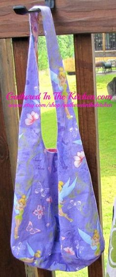 Children's Reversible Disney Princes Over The Shoulder/Cross Body/Hobo Bag/Ballet, Dance Bag/Overnight Bag by gatheredinthekitchen, $15.00