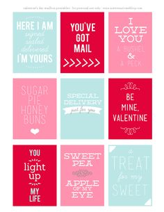 this is happiness: free valentine printables