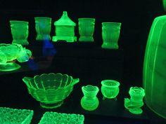 Vaseline Glass  made with uranium