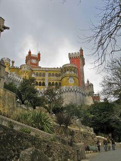 Pena National Palace Estrada da Pena Sintra, Portugal Must-see day trip from Lisbon by Monica Hahn So beautiful! mustdo, nation palac, castl, lisbon travel, day trips, palaces, pena nation, portugal, highlights