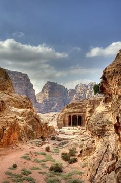 Garden tomb, Petra, Jordan.  UNESCO & ICOMOS recently collaborated to publish their first book on human & natural threats to these sensitive World Heritage sites, choosing Petra as its first & most important example of threatened landscapes.