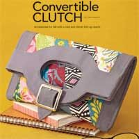 Convertible Clutch Free Sewing Pattern | October/November 2012 | Sew News