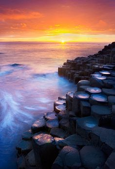 ~~Giant's Causeway ~ sunset, County Antrim, Ireland by Lukasz Maksymiuk~~