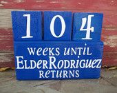 Personalized  Missionary Countdown Large Blocks - Countdown the weeks until your missionary comes home.