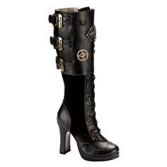 Knee High Steampunk Boots