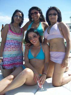 Four Beautiful Desi Indian Bikini Girls in Sexy Pose indian bikini, bikini girl, desi bikini