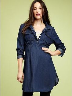 Gap Chambray Pocket Tunic $50.00
