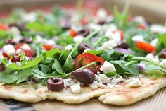 greek salad grilled pizza