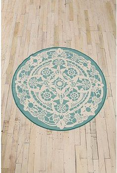 round venetian lace printed rug ~ Urban Outfitters