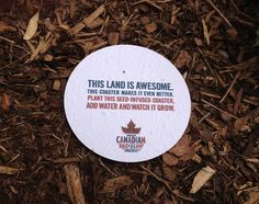 Molson Canadian Makes Plantable Beer Coasters: Drink Up : TreeHugger
