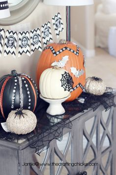 Glammed Up Pumpkins by @Matt Nickles Valk Chuah Crafting Chicks #MPumpkins