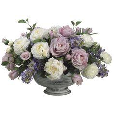 Lilac/ Rose/ Peony/ Ranunculus Silk Flower Arrangment ARWF1162