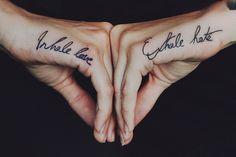 Inhale & exhale #tattoo