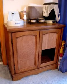 Kitty litter cabinet