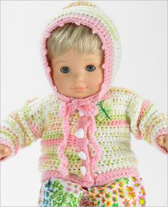 """Simplicity-1952 Doll Accessories free crochet pattern to fit 15"""" doll"""