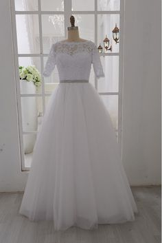 Vintage Inspired Lace Tulle Wedding Dress by misdress on Etsy