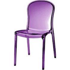 Kartell Thalya Style Chair (Transparent Purple)
