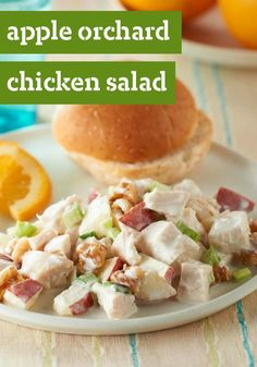 Apple Orchard Chicken Salad -- This tangy chicken salad recipe packs a powerful crunch, thanks to chopped apple, celery and toasted walnut.