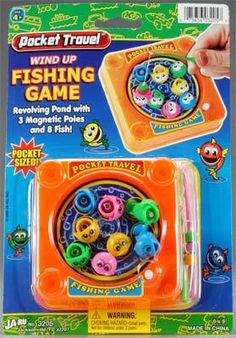 Pocket Travel Wind Up Fishing Game! My older sister totes had this!