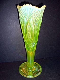 Vaseline Opalescent Vase