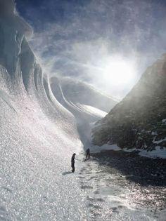 Frozen Wave in Antarctica