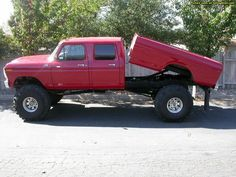 Ford Crew Cab 4x4 with dump bed