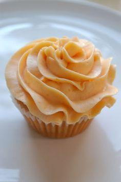 Peach Cupcakes with Peach Buttercream