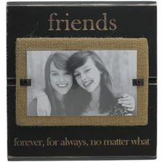 Friends Burlap Picture Frame #bestfriends