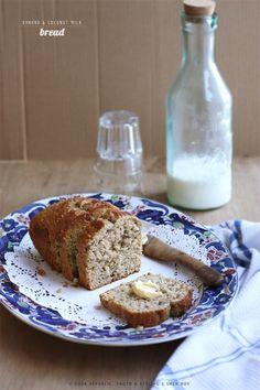 Banana And Coconut Milk Bread #healthy #vegetarian #bread