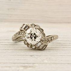 Vintage Old European Cut Diamond. Love this