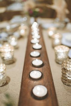 #candles and mercury glass everwhere |  Photography by paperantler.com  Read more - http://www.stylemepretty.com/2013/08/14/minnesota-winter-wedding-from-paper-antler-photography/