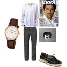 """Casual Day for Men"" by maria-saldarriaga on Polyvore"