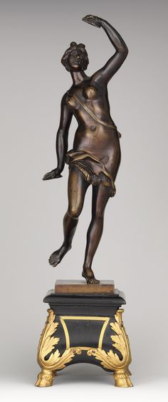 Dancing Bacchante, early 18th century  Robert Le Lorrain (French, 1666–1743)  Bronze, mounted on base of ebony and gilt bronze