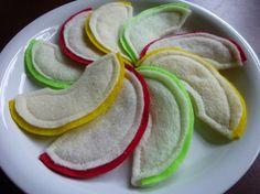 Apple Slices Felt Play Food by LittlePicklepotamus on Etsy