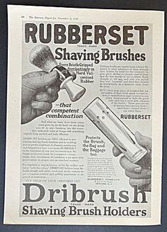 Dribrush Rubberset Shaving Brush Holders Ad